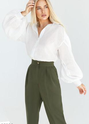 Біла блуза сорочка батист