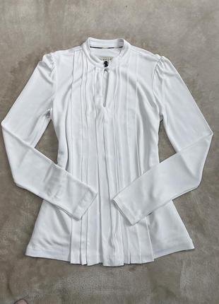 Белая блуза burberry