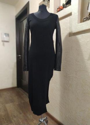 Платье с натуральной кожей carell thomas rick owens