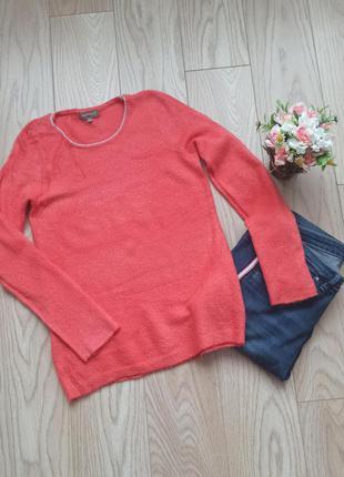 Коралловый пушистый свитер, р.м