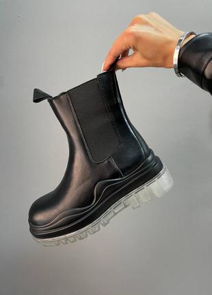◾ ботинки bottega veneta boots black clear sole◽