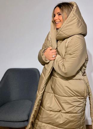 Зимнее пальто обьемное оверсайз женское