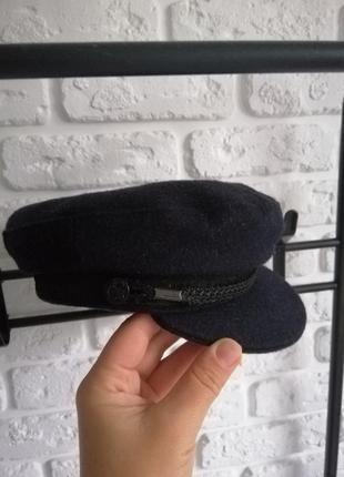 Кепка с козырьком тёплая шапка картуз