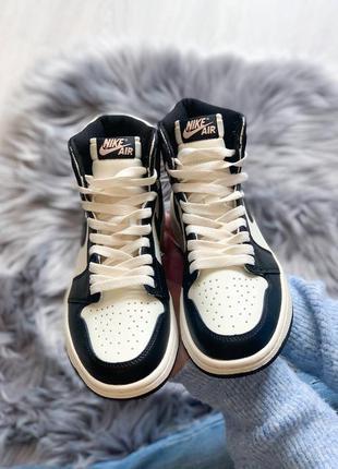 Jordan retro 1 dark mocha высокие кроссовки
