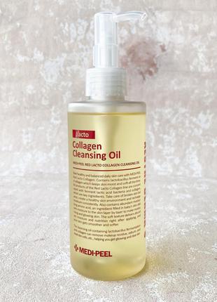 Гидрофильное масло с лактобактериями и коллагеномmedi-peel red lacto collagen cleansing oil 200 мл