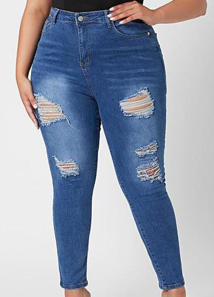 Мегаклассные стрейчевые джинсы скини на пышные формы  boohoo...