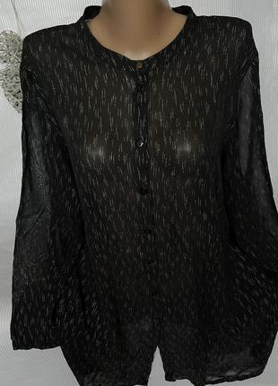 Шикарная чёрная рубашка люрекс