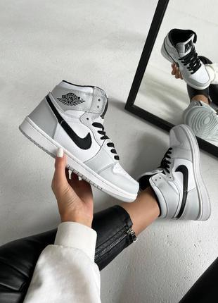 Женские кроссовки nike air jordan 💥серые белые наложенный платёж весна лето осень