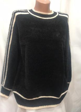 Теплый свитер альпака -травка