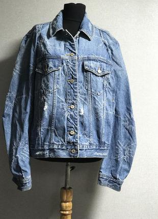 Шикарная оригинальная джинсовую петжак