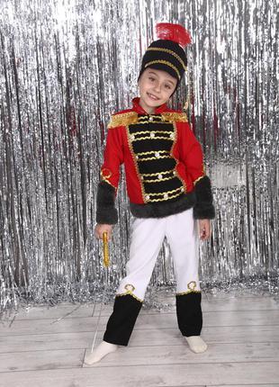 Роскошный детский маскарадный костюм гусар шапка китель штаны