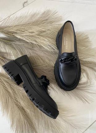 Лоферы натуральная кожа туфли