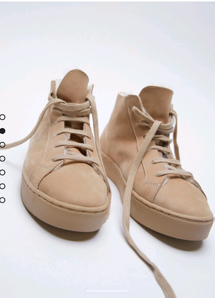 Ботинки с натуральной замши zara 37 36