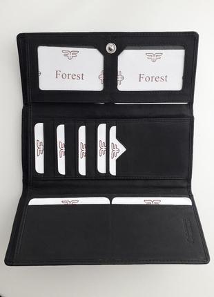 """Кошелек кошельок """"forest"""" чорного кольору. 19×9 см"""