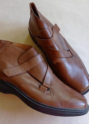 Кожаные ботинки большого размера