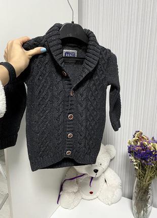 Тёплый вязаный свитер кофта косы💙💙💙