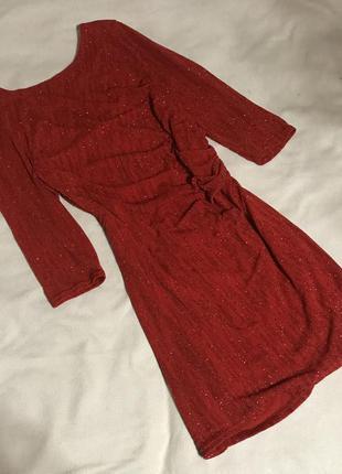 Красное платье вечернее(м/l)