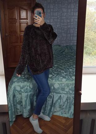 Вельветовый свитер кофта