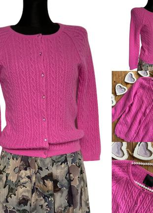 Фирменный стильный качественный натуральный свитер в косы