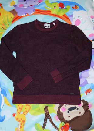 100% шерстяной теплый зимний свитер джемпер теплий светр на мальчика