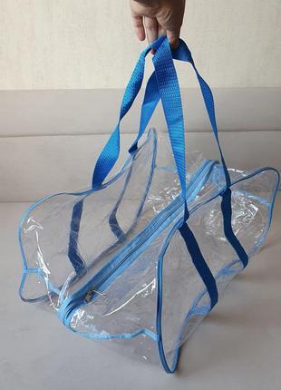 2шт сумки у пологовий, в роддом голубые, блакитні великі