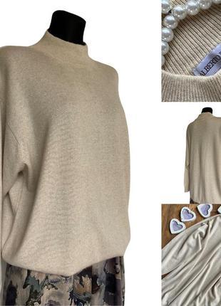 Фирменный стильный качественный натуральный винтажный свитер