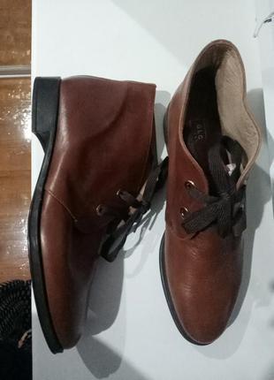 Полностью кожаные ботинки на шнуровке globus