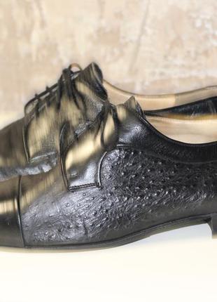 Комбинированая натуральная кожа страуса-туфли mister minit италия