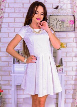Женское нежное, нарядное, белое  платье you best! (2015)