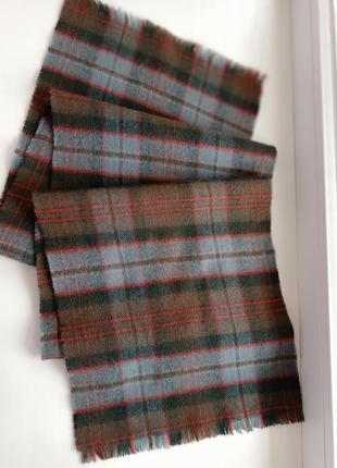 Ingles buchan базовый шерстяной шарф шотландия /130*25 см