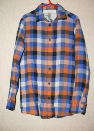 Рубашка в клетку на мальчика 8-9 лет