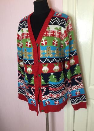 Новогодний кардиган свитер, новый год, jingle bells