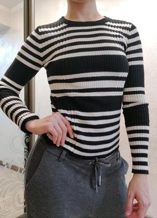 Водолазка свитерок в рубчик
