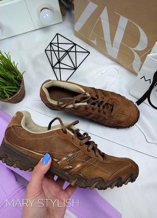 Крутые замшевые кроссовки от skechers