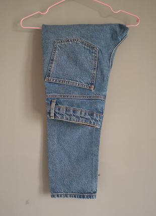 Джинсы укорочене брюки на высокой посадке