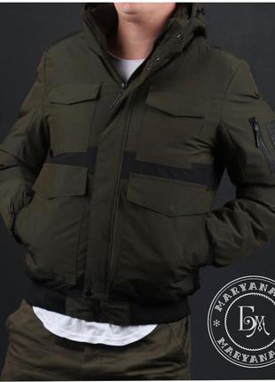 Стильная зимняя куртка / хаки