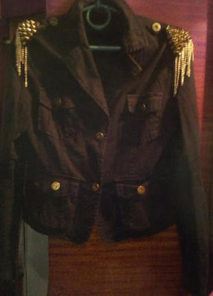 Джинсовый модный пиджачёк