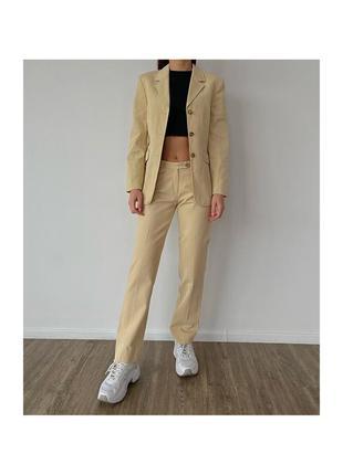 Винтажный вельветовый костюм пиджак и брюки