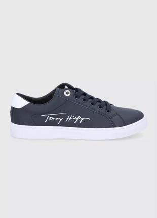 Tommy hilfiger кроссовки из натуральной кожи
