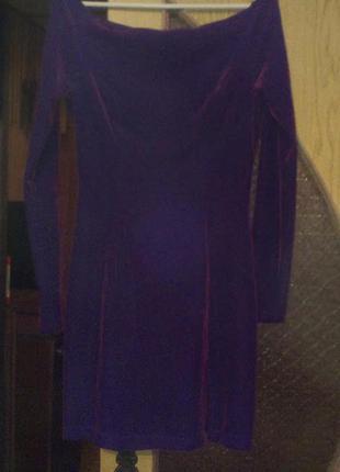 Модное велюровое платье