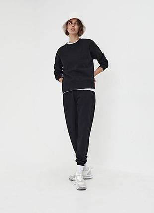 Новый чёрный спортивный костюм sinsay свитшот штаны