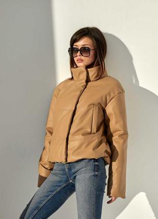 Куртка демісезона з еко шкіри