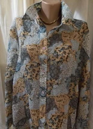 *батал* miss etam**блуза большого размера жатка разм 58 пог-65см 03