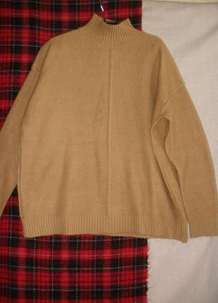 Уютный свитер оверсайз из акрила со швами наружу