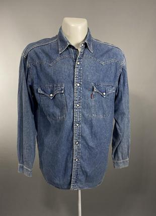 Рубашка фирменная levis, джинсовая