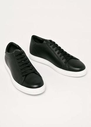Emporio armani кожаные кроссовки