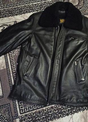 Кожаная куртка дубленка