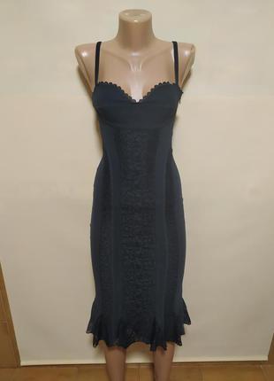 Платье сарафан сексуальное обтягивающее вечернее черное красивое