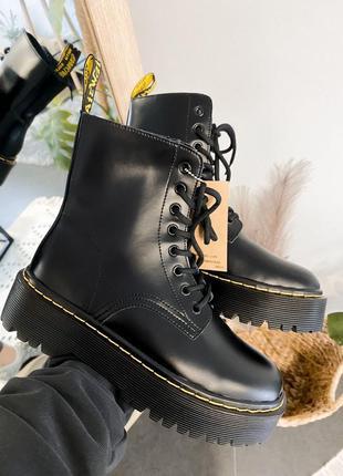 Ботинки dr martens jadon black кожаные