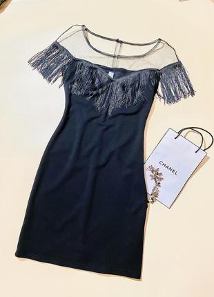 Новое чёрное вечернее женское платье